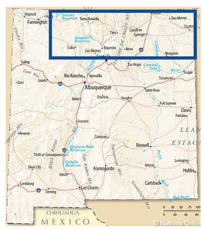 Upper Middle Rio Grande Region Map